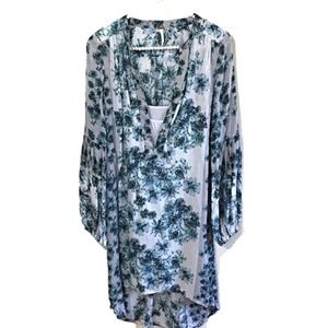 Free People SZ XS Dress Blue Floral